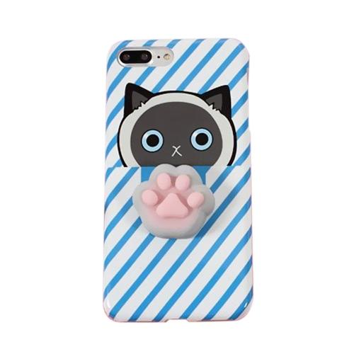 Coelho com fundo preto para iPhone6 / 6S Case Bonito 3D Squishy Silicon TPU Shell Squeeze Stress Relieve Brinquedos Mobliephone Capa traseira