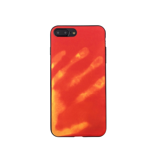 Moda Creative Ciekawy czujnik termoelektryczny indukcyjny Wymiana ciepła Magiczna obudowa telefonu Powrót Case Miękka obudowa dla iPhone 6 Plus / 6s Plus Red