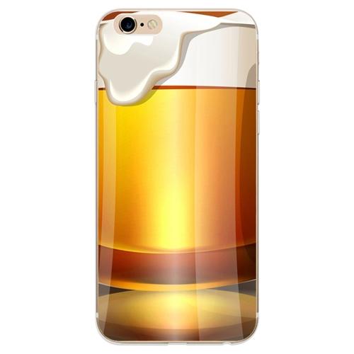 Soft TPU Protector Case Beer Pattern Desenhos engraçados Ultra-fino Cellphone Back Cover Shell Proteção Caso Shock-Absorption Anti-Scratch para iPhone 7/8 Tipo 1 #