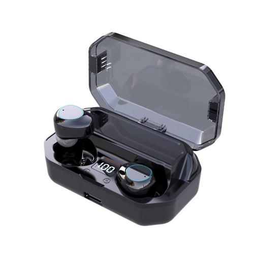 G03 BT5.0 Headsets TWS-Kabellose Sportkopfhörer In-Ear-Mini-Stereo-Ohrhörer Kopfhörer IPX7 Wasserdicht mit wiederaufladbarer 6000-mAh-Ladebox