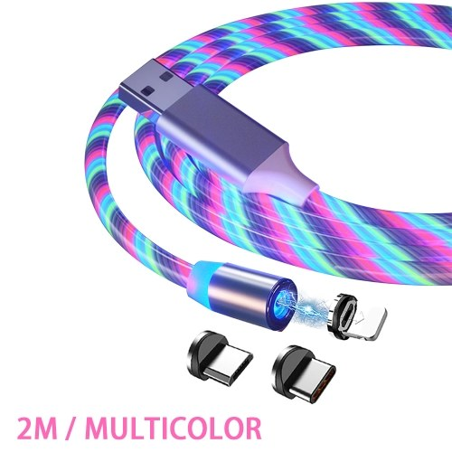 2M Magnetic Charging Cable Fast Charge Mobile Phone Charging Cable-Lightning 3 in 1