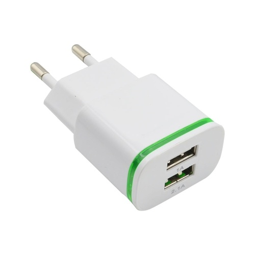 2 Port USB Charger Universal Travel Adapter 5V 2.1A Wall Portable EU Plug Charger for iPhone Android