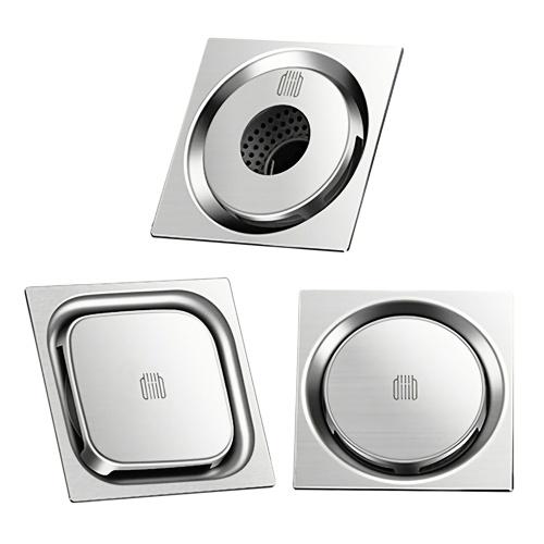 Xiaomi Diiib Dreno de Assoalho Desodorante À Prova de Insetos Drenagem de Roda em Aço Inoxidável 304 Para Cozinha Em Casa Máquina de Lavar Roupa