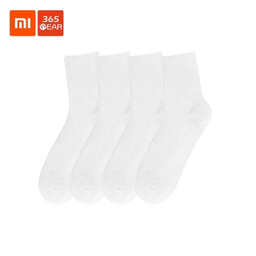 Xiaomi Youpin 365WEAR Uomo Pima Cotton Sport Calze a tubo a metà polpaccio Nessun odore antibatterico Sudore assorbente 4 stagioni Calze di cotone 5 paia