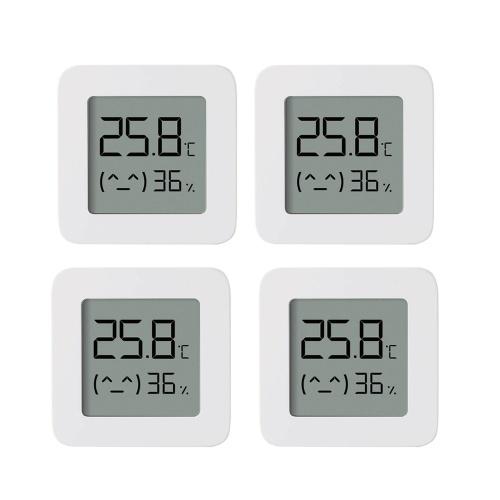 4pcs Xiaomi BT Thermometer 2 Wireless Smart Electric Digital Hygrometer Humidity Sensor Work with Mijia APP