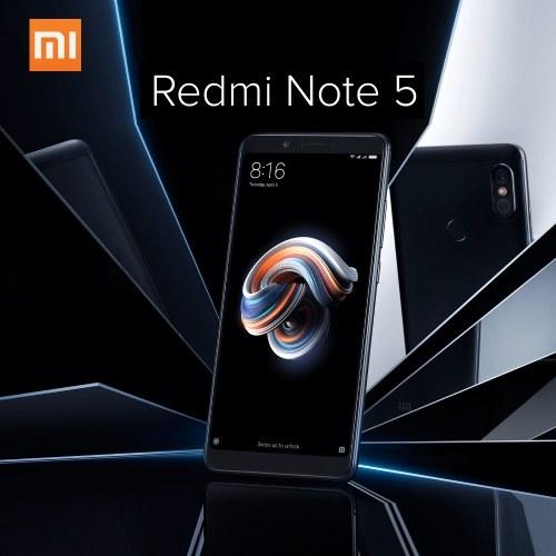 Global Version Xiaomi Redmi Note 5 AI Face ID Mobile Phone 4GB 64GB EU Plug (Gold)