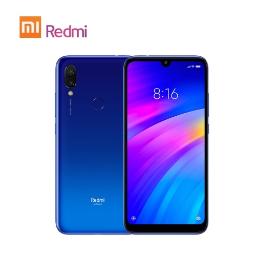 Xiaomi Redmi 7 Handy 4 GB RAM 64 GB ROM Snapdragon 632 Octa Core 12 MP 6,26 Zoll HD + 4000 mAh Akku Dual SIM Triple Card Slot Face ID entsperrt Smartphone