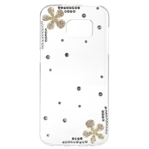 Tampa de KKmoon Shell caso protetora traseira amortecedor de Bling moda ultrafino de plástico leve para o Samsung Galaxy S7 borda
