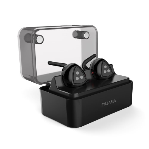 Original Syllable D900 MINI duas vezes ouvido sem fio BT Headset sem fio verdadeiro Tecnologia Sports fone de ouvido BT 4.1 Carga Função Low Frequency equilibrada para iOS ou Android Smartphones