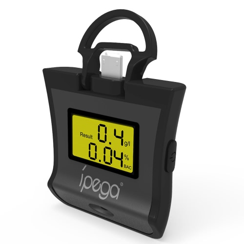 iPega PG-9070 2-em-1 Smart Cor Alcohol Tester Detector para Android IOS Smartphone com função OTG