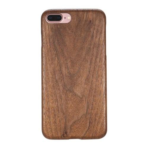 Natural de madeira de bambu Handmade Mobile Phone Hard Case Shell Moda tampa traseira de madeira para iPhone 7 Plus não Slip Magro Light Weight Super Fino