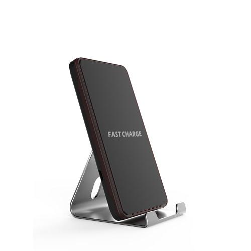 Suporte de suporte de carga Qi Wireless Fast Charger para iPhone 8/8 Plus iPhone X e outros smartphones habilitados para Qi