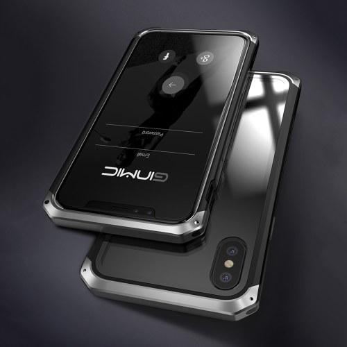 Модная практичная обложка для телефона Металлическая защитная рамка Разрывная оболочка для мобильного телефона с прозрачным прозрачным закаленным стеклом для iPhone7 / 8 фото