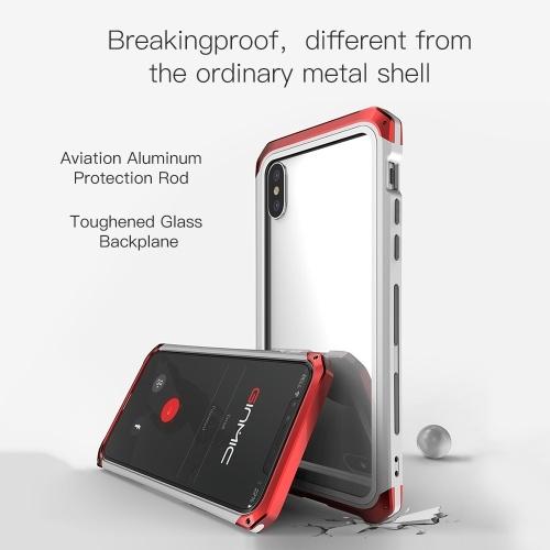 Модный практичный защитный чехол для телефона Металлическая защитная рамка Разрывная оболочка для мобильного телефона с прозрачным прозрачным стеклом для iPhoneXs Max фото