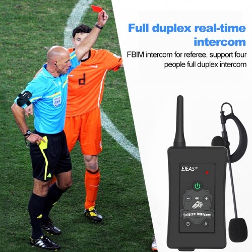 Football Referee Intercom Headset FBIM 1200M Full Duplex Bluetooth Motorcycle Interphone Wireless