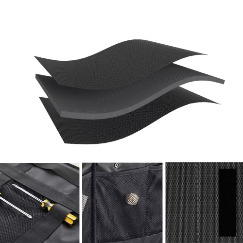 Xiaomi LEAO Multi-Pocket Organizer Car Storage Bag Black Large Capacity Folding Car Trunk Storage Bag Stowing and Tidying