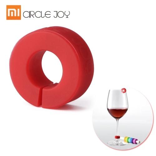 8 шт. / Лот Xiaomi Circle Joy Wine Glass Идентификационные кольца Идентификационные кольца Маркеры Красное вино Foodgrade Широкий спектр применения