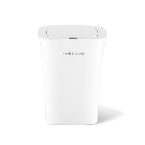 Xiaomi NINESTARS DZT-10-11S Waterproof Smart Sensor Trash Can Infrared Touchless Hand Moton Trash Can 10L Automatic Induction Silent Ashbin One-button Trash Bin For Bedroom Home Office Kitchen 2xAA Battery