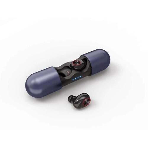 V8 TWS Fone de Ouvido BT5.0 HD Voz Correspondente Inteligente Sílica Gel Ear Cap Design Ergonômico Fone de Ouvido