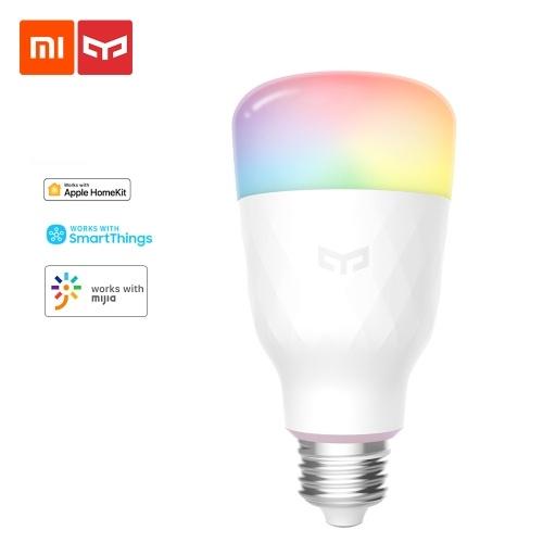 Xiaomi Yeelight Smart LED Bulb 1S Color Version YLDP13YL 8.5W RGB Light Desk Floor Table Lamp Support APP Control Light Work With APP Homekit AC220V-240V 1700K-6500K E26 E27 800lm