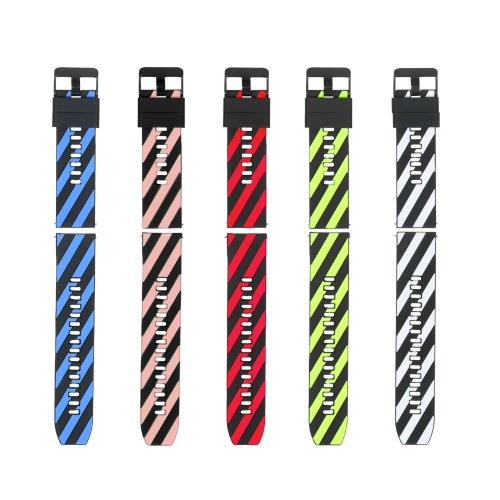 22mm Watch Band Soft Silicone Quick-Release Strap with Buckle Breathable Watchband Wristband Compatible with 22mm Smart/Traditional Watch
