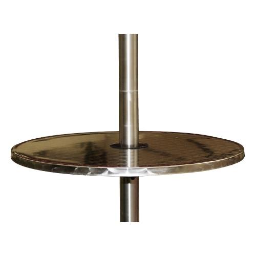 Table en acier inoxydable pour parasol chauffant - Table en acier inoxydable ...