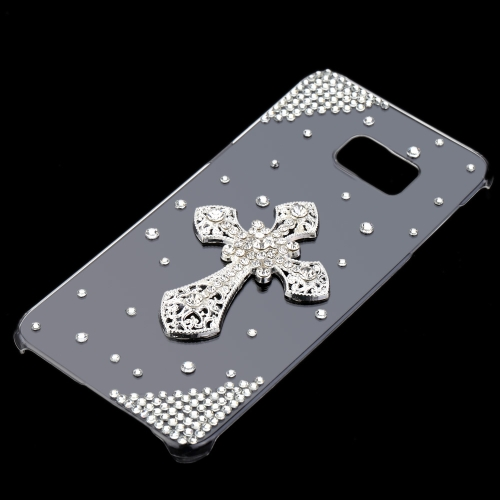 Cute Glitter 3D la main cristal Bling diamant Transparent clair dur PC Etuis cuir luxe pour Samsung Galaxy S6 Edge Plus 5,7