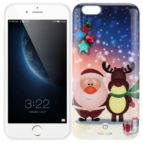 Intelligent Dazzle Colorful Flashing Luminous Protective Phone Case Protection Cover for iPhone 6 6S 4.7