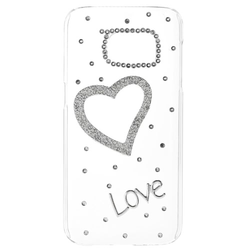 Tampa de KKmoon Shell caso protetora traseira amortecedor de Bling moda ultrafino de plástico leve para o Samsung Galaxy S7