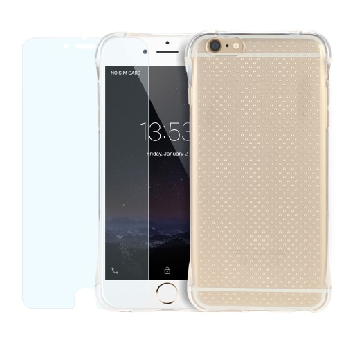 2 個入り/セット 360 度完全保護カバー クリスタル クリア超薄いソフト TPU ゲル付きジュエリー ケース iPhone 6 6S ナノ スクリーン プロテクター防保護フィルム