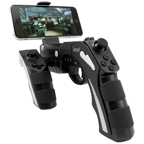 iPega PG-9057 Phantom ShoX Blaster BT Gun Game Controller Wireless BT 3.0 With Stand for Android 3.2 IOS 7.0   Above Smartphones Tablet PC Win7 Win8 Win10 Computer