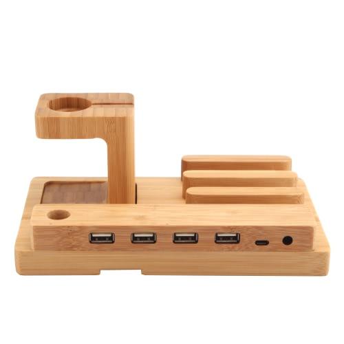 Tutto in 1 Supporto per basi di ricarica in bambù