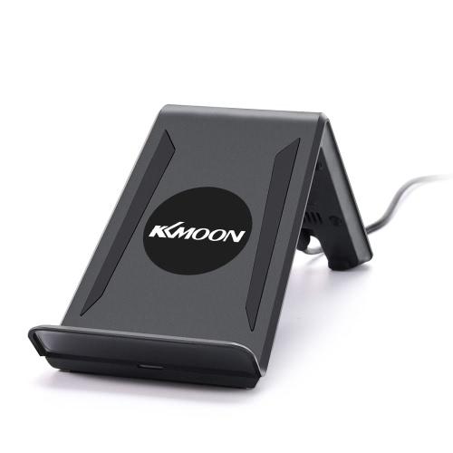 KKmoon A6ポータブルチーワイヤレス充電トランスミッタ3つのコイルパッドの携帯電話は、サムスンS7 S7エッジS6 S6エッジS6エッジプラス注5のすべてのチー有効にスマートフォンをホルダー充電スタンド