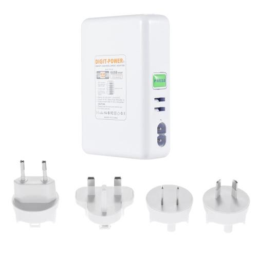 KKmoon 6-Port USB Charger Desktop Rapid Charger 5V 10A Power Supply for Apple Samsung Smartphone