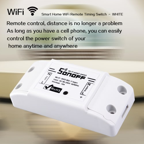 SONOFF 10A Basic WIFI Wireless Switch, TOMTOP  - buy with discount