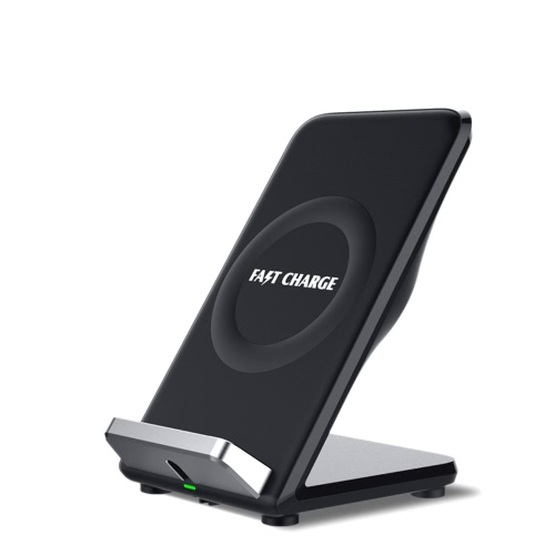 Qi Wireless Fast Charging Stand Holder Carica rapida Ventola di raffreddamento incorporata Dual Bobine per iPhone 8/8 Plus iPhone X Samsung Galaxy S8 / S8 / S7 / S7 Edge e S6 Edge e altri smartphone Qi-enabled