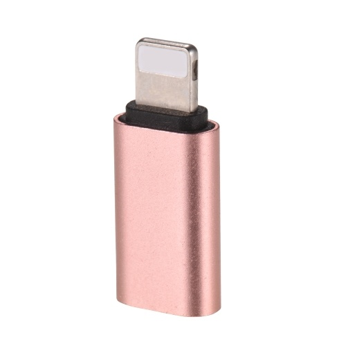 Aluminum Alloy Android Type-C USB-C Female to Lightning Male Sync Data Converter Charging Adapter for iPhone 8 Plus iPad mini Air Data Cable