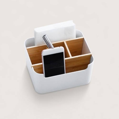 Xiaomi Desktop Organizer Cosmetic Storage Bamboo Fiber Pens Stationery Makeup Organizer Container For Office Home Desk
