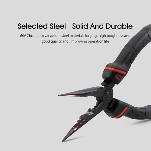 Xiaomi Youpin Deli Nipple Pliers Household Repair Tool Car Repir Tool Chromium Vanadium Steel Installation Tool Effective Tool Diagonal Pliers Multi-Function Crimping Pliers Labor-Saving DL0104 Black Red 1/Handle