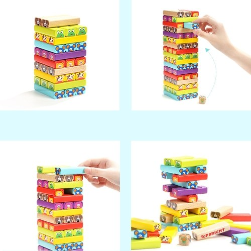 Xiaomi Youpin Topbright Solid Wooden Animal Cascading Building Block Toy Set