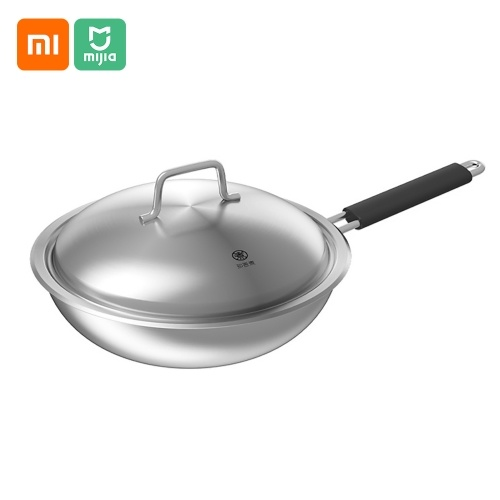 Xiaomi Zhiwuzhu Wok 30cm 304 Stainless Steel Pan 5 Layers Saucepan Stockpot Fast Heat-up Food Cooker With Lid