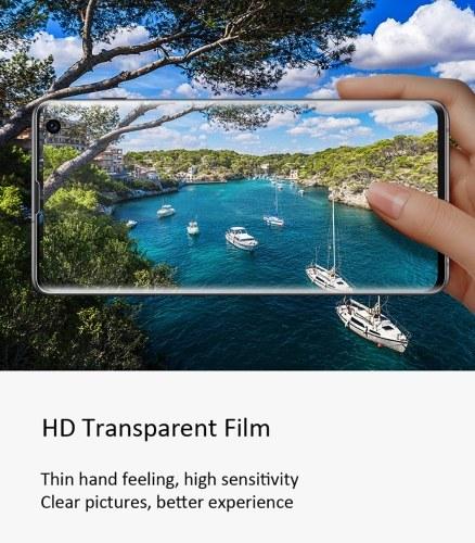 Membrana protectora de pantalla transparente para