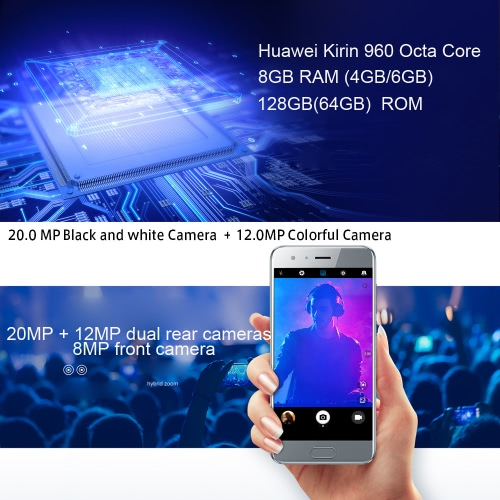 Huawei Honor 9 Smartphone 4G Phone 5.15inch FHD Screen 6GB RAM 64GB ROM