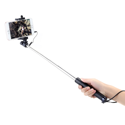 普遍的な自己 Selfie スティック一脚サポート アンドロイド iOS カメラ 3.5 mm ジャック有線 iPhone 6 6S のパロ Selfie リモコン プラス サムスン銀河 S6 エッジ
