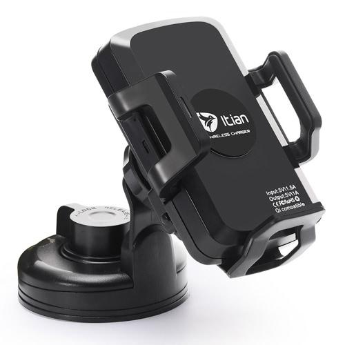 Itian C1 + Qi voiture sans fil chargeur Charging Stand pour Samsung Galaxy S6 S6 arête S6 S7 S7 Plus bord LG G2 Smartphone Simple Fashinable Design haute efficacité anti-dérapants Safe Stable Durable