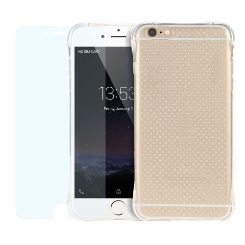 2pcs/conjunto 360 grau completo proteger cobrir Crystal Clear Ultra fina Soft Gel volta em TPU com película NANO protetor de tela à prova de explosão protetora para iPhone 6 Plus 6S Plus