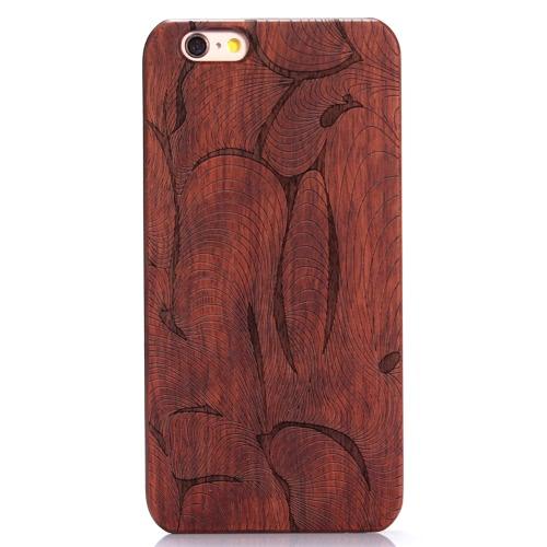 KKmoon Rosewood + PC telefone caso cobrir casca protetora para iPhone 5,5 polegadas 6 Plus/6S e mais Eco-friendly Material elegante portáteis ultrafinos anti-riscos anti-poeira durável