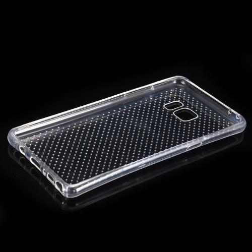 Original KKmoon 360 graus cobertura de proteção de telefone Case Ultra Clear Fina E Macia TPU Gel Voltar para Samsung Note7