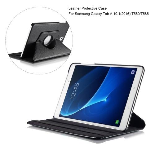 Lederschutzhülle Anti-Scratch Staubdichte Schutzhülle 360 ° Rotation Hülle für Samsung Galaxy Tab A 10.1 2016 T580 / T585