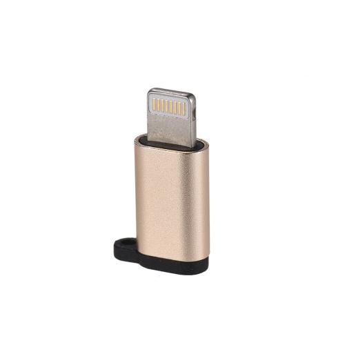 Lega di alluminio Android Micro USB femmina a Lightning maschio sincronizzazione dati convertitore adattatore di ricarica per iPhone Cavo dati iPad